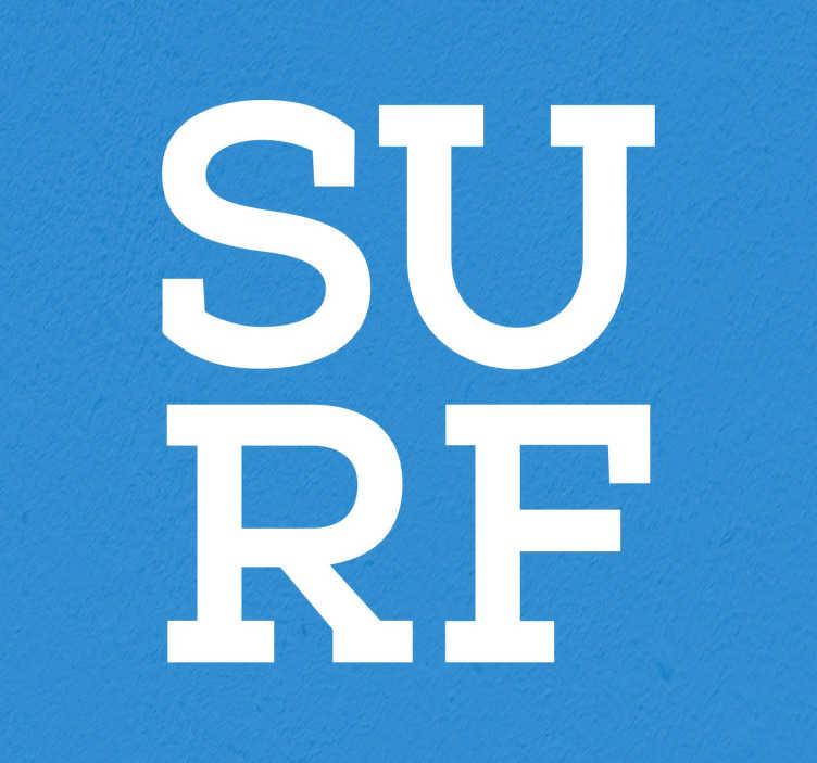 Adesivo decorativo surf tipografia