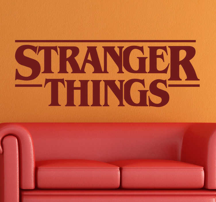 TenVinilo. Vinilo logo Stranger Things. Murales y vinilos con el logotipo de la exitosa serie de fenómenos paranormales de Netflix.