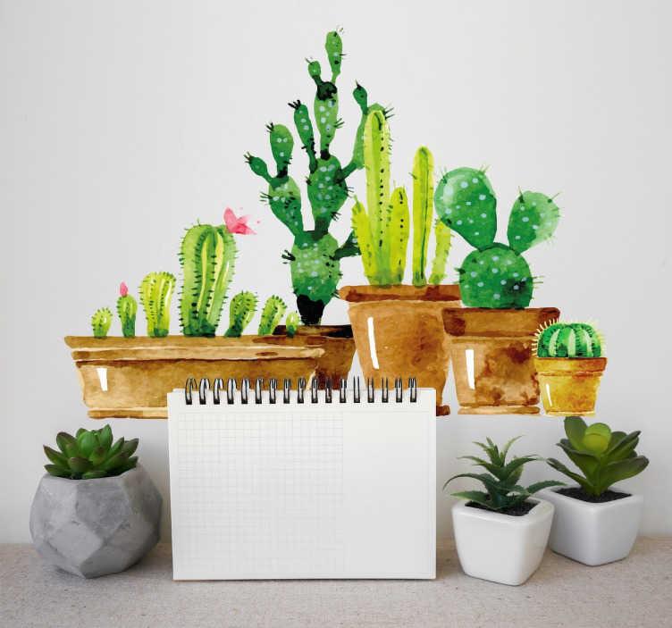Vinilo decorativos cactus jardn casero TenVinilo