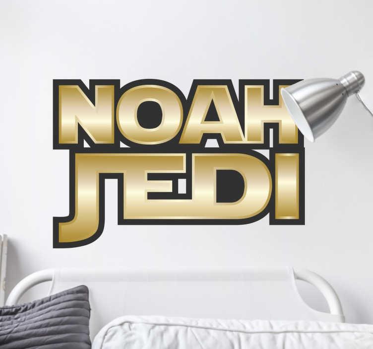Sticker prénom personnalisable Jedi