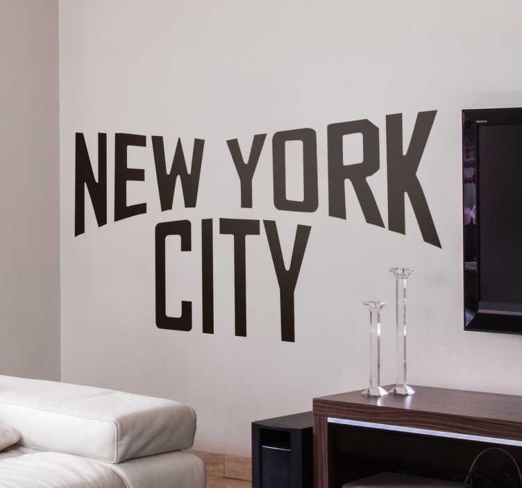 TenStickers. Naklejka ścienna New York City. Naklejka ścienna przedstawiająca napis ' New York City' .