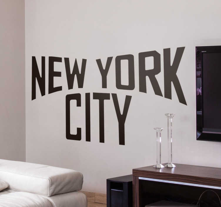 New York City Text Wall Sticker Tenstickers