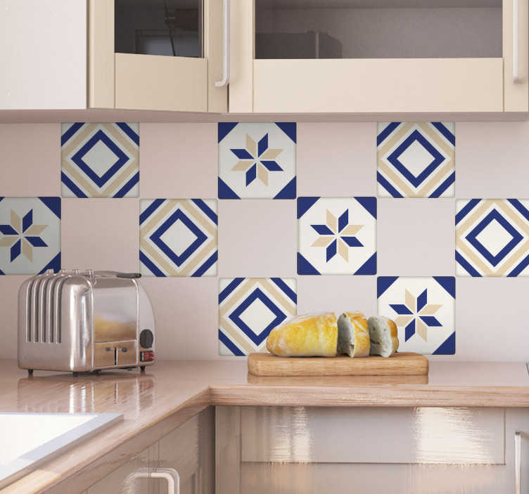 TenStickers. Moroccan Tile Cross Sticker. Bring the beauty of the Mediterranean into your kitchen or dining room with these amazing Moroccan tile stickers. Worldwide delivery!