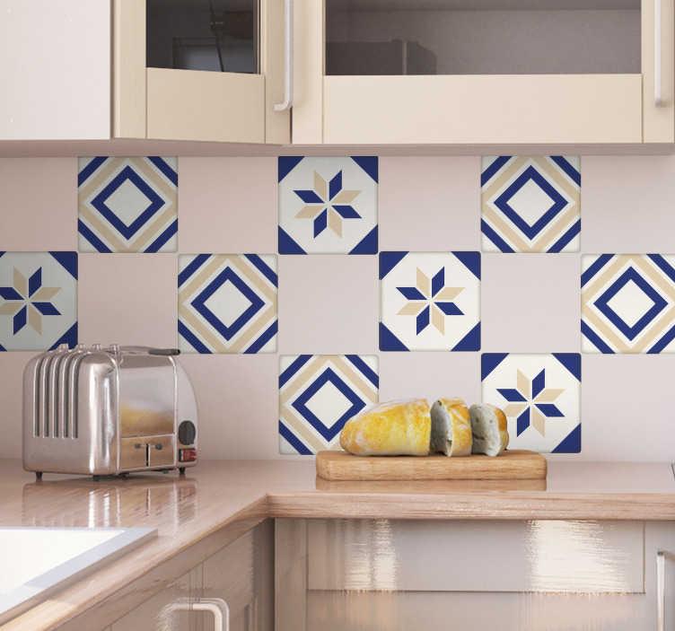 TenStickers. sticker tuiles colorés. tuiles décorative applicable sur toutes surfaces et personnalisable.