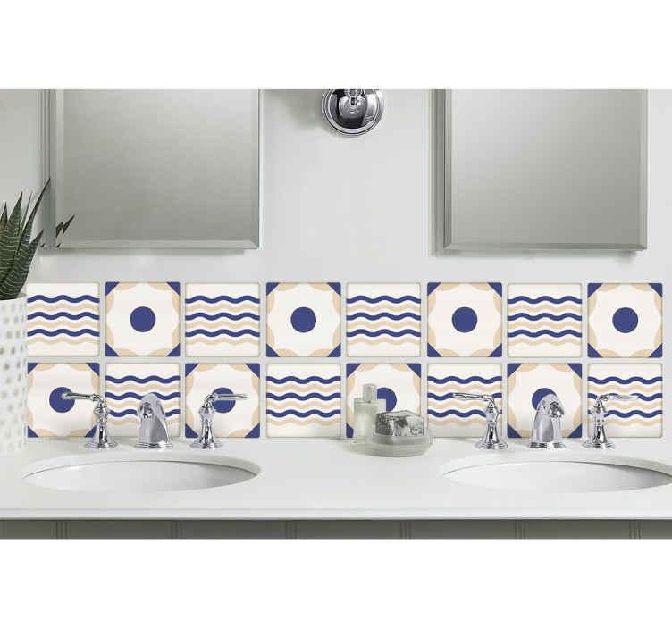 vinilo decorativo ceramic olas