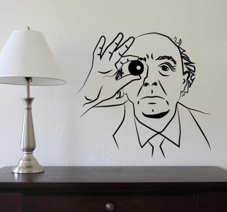 TenStickers. Naklejka ścienna Jose Saramango. Naklejka ścienna, która przedstawia portugalskiego pisarza Jose Saramango.