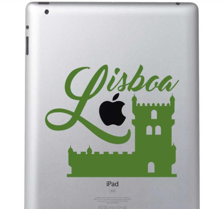 TenStickers. Sticker Lisbonne monument. Vous êtes originaire de Lisbonne et fier de l'être ou français qui aime la ville de Lisbonne? Ce sticker de l'emblématique tour de Belém est parfait.