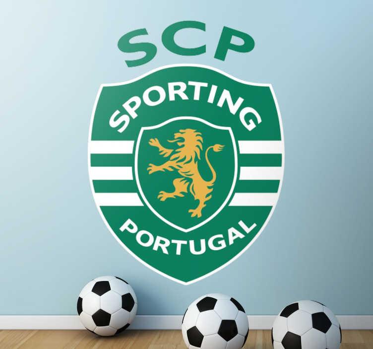 TenStickers. Vinil adesivo Sporting Portugal. Vinil decorativo de um dos clubes de futebol mais famosos de Portugal. Adesivo de parede do clube Sporting Clube de Portugal.