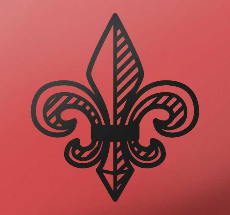 TenStickers. Adesivo flor de lis. Decora qualquer parede da tua casa ou do teu carro, com este símbolo clássico heráldico francês em vinil autocolantes.