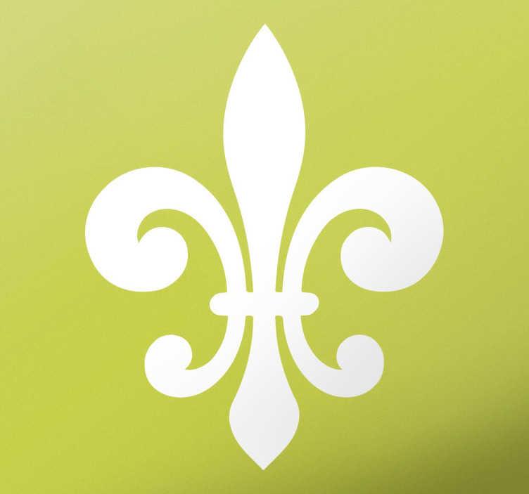 TenStickers. Adesivo vinil flor de lis. Decora qualquer recanto da tua casa ou do teu carro, com este símbolo clássico heráldico francês.