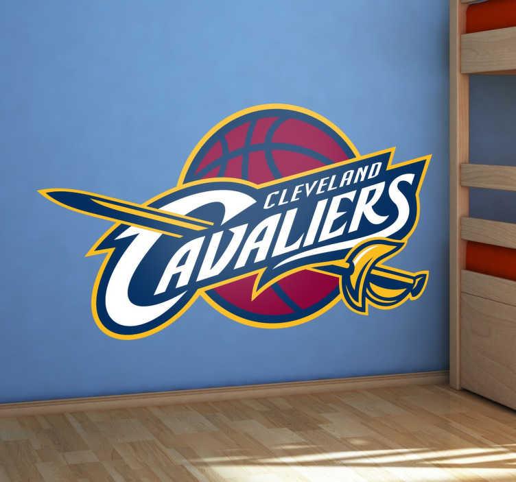 TenStickers. Muursticker Cleveland Cavaliers. Muursticker Cleveland Cavaliers AKA The Cavs Logo, in het jaar 2015/2016 kampioen geworden in de NBA.