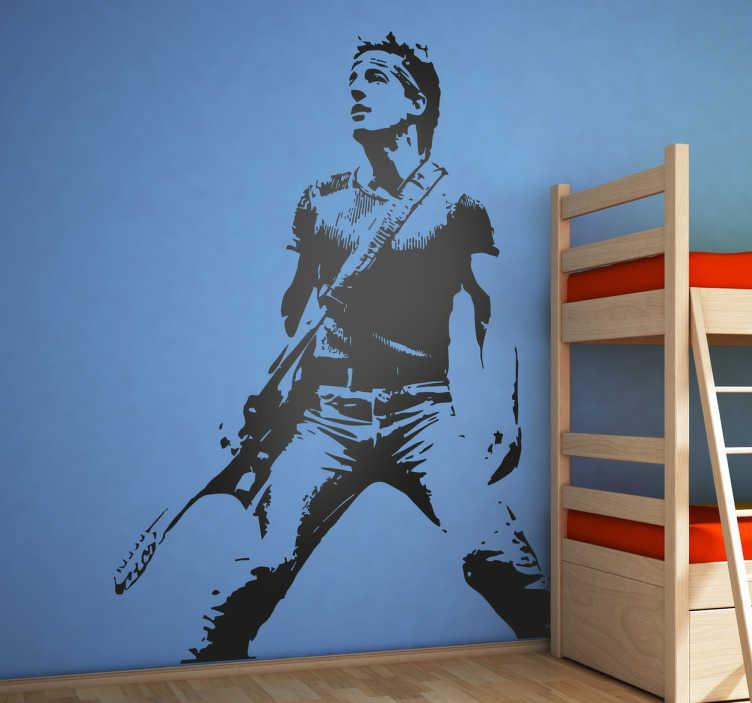 TenStickers. Wandtattoo The Boss Bruce Springsteen. Dekorieren Sie Ihr zu Hause doch mit diesem rockigen Wandtattoo.