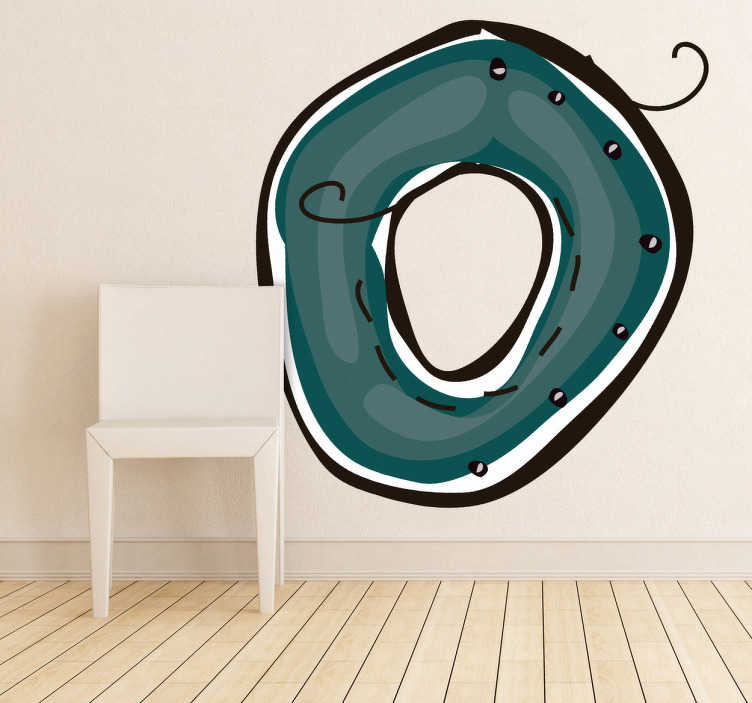 TenStickers. Nummer 0 Aufkleber. Mit dieser 0 alsWandtattookönnen Sie dasKinderzimmerdekorieren und Farbe an die Wand bringen.