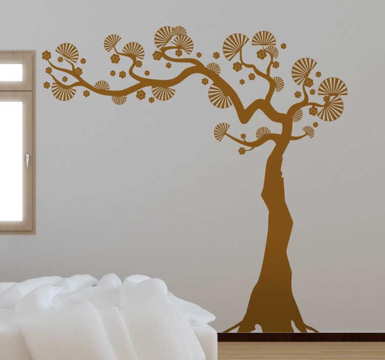 TenStickers. Naljepnica zidova ukrasnih zidova. Ako tražite originalan i jedinstven način ukrašavanja svog doma, ne tražite dalje od ove ukrasne zidne naljepnice stabla obožavatelja!