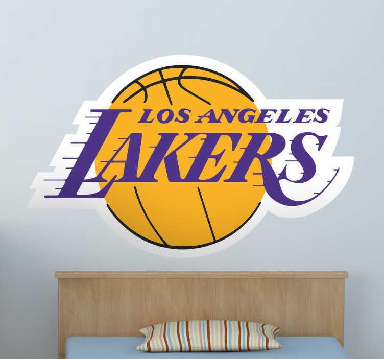 TenStickers. logo LA Lakers. Un sticker logo de basket LA Lakers, applicable sur toutes surfaces et personnalisable. Pour tous les vrais amateurs de basketball !