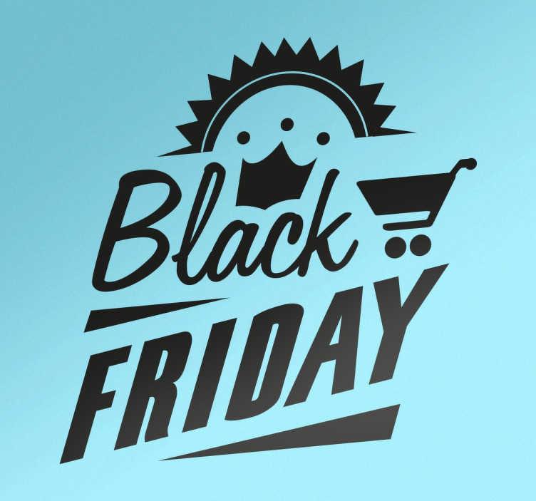 TenStickers. Naklejka dekoracyjna Black Friday. Naklejka dekoracyjna w stylu retro Black Friday, która doskonale nada się na wystawę sklepową.