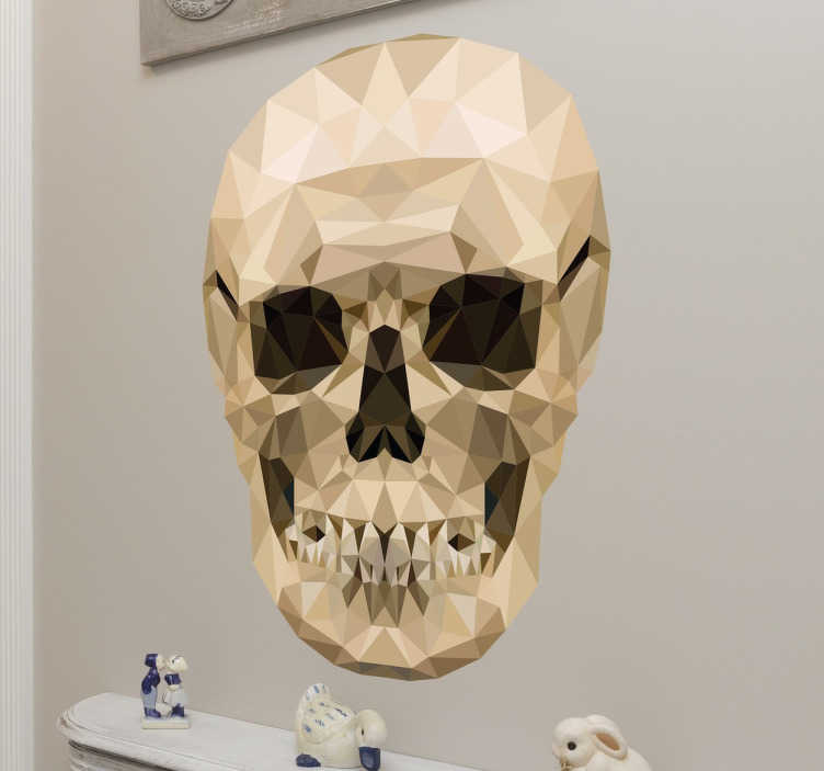 TenStickers. Naklejka dekoracyjna Czaszka. Naklejka dekoracyjna prezentująca czaszkę.Oryginalna dekoracja,która świetnie sprawdzi się również jako ozdoba na Halloween.