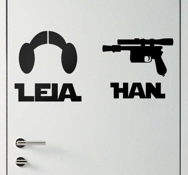 Leia and Han Star Wars Wall Stickers