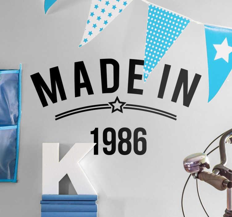 TenStickers. Naklejka Made in. Naklejka dekoracyjna przedstawiająca grafikę 'Made in'.