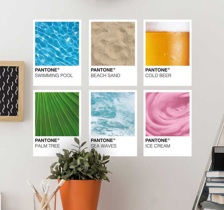 Pantone Colours of Summer Wall Sticker