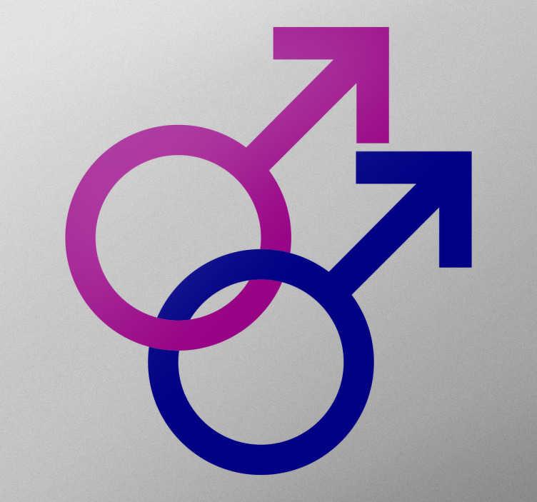 Sticker gay symboles masculin
