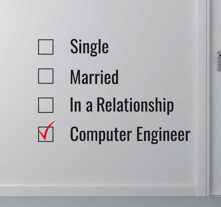 TenStickers. Wandtattoo Computer Ingenieur. Sie sind Informatiker oder Computer Ingenieur? Dann ist unser Wandtattoo Computer Ingenieur genau das Richtige für Sie!