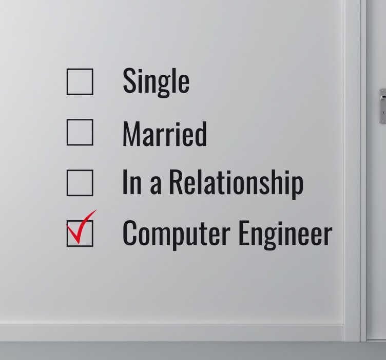 Naklejka Computer Engineer