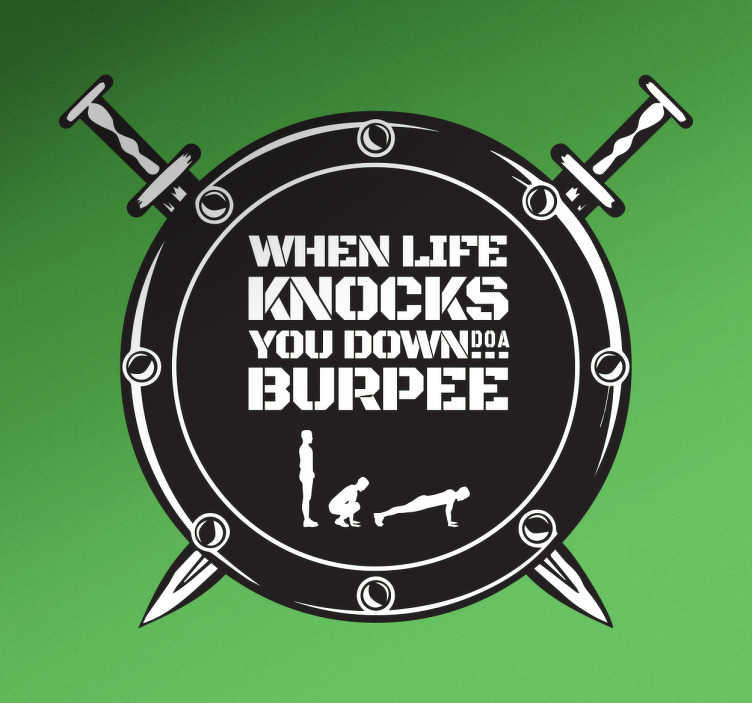 TenStickers. Burpee Wall Sticker. Motivational wall sticker. Are you looking for a motivational sticker for the gym?
