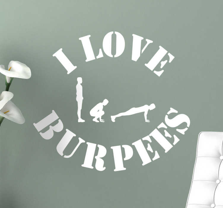 Naklejka ścienna I love Burpees