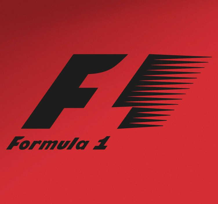 TenVinilo. Vinilo decorativo logotipo fórmula monocolor. Vinilos de motor con el logotipo oficial del mundial de fórmula 1. Si te gusta el automovilismo y sigues el mundial.