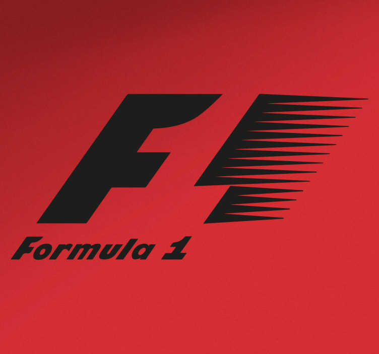 Adesivo decorativo logo formula 1 monocolore