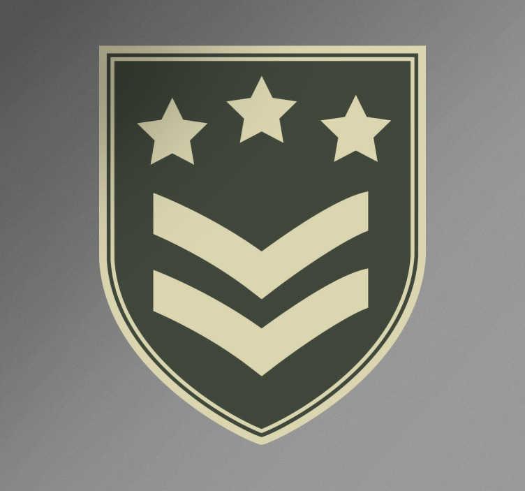 TenStickers. Autocolante emblema militar. Adesivos decorativo estilo militar com o emblema do cargo, ideal para a decoração de quartos infantojuvenis. Vinis com proteção anti bolhas.