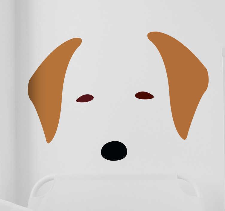 TenStickers. Naklejka na ścianę labrador. Dekoracja ścienna przedstawiająca labradora.Naklejka przedstawia  oczy,uszy i nos słodkiego psiaka.