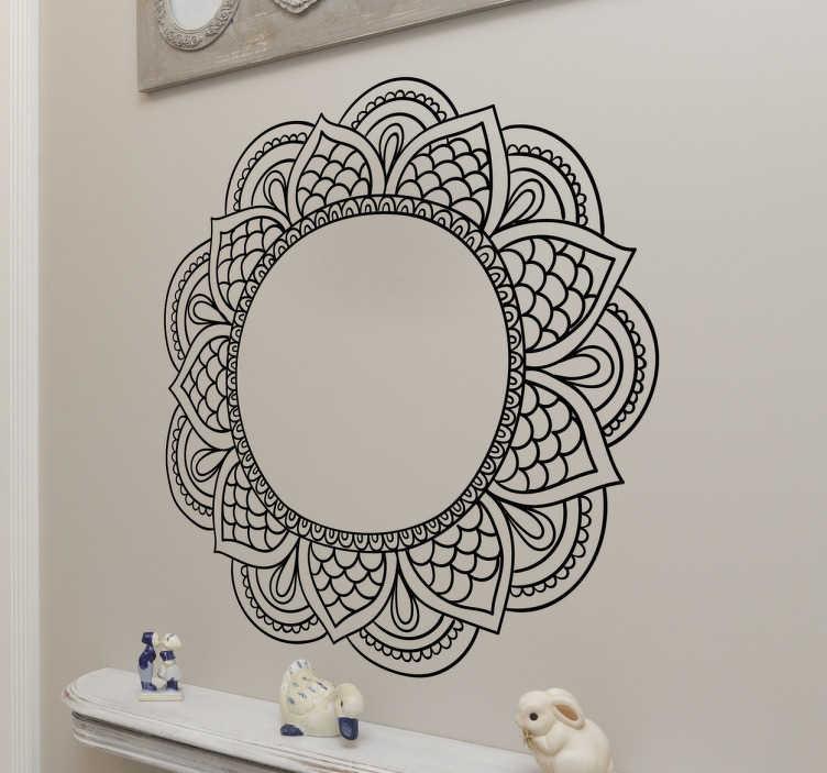 TenStickers. Dekoracja ścienna Kwiat mandala. Orientalna dekoracja prezentująca abstrakcyjny kwiat zwany mandala.