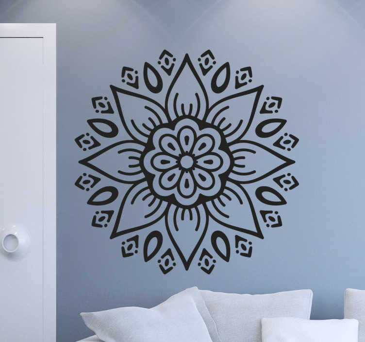 Muursticker Decoratieve Bloem