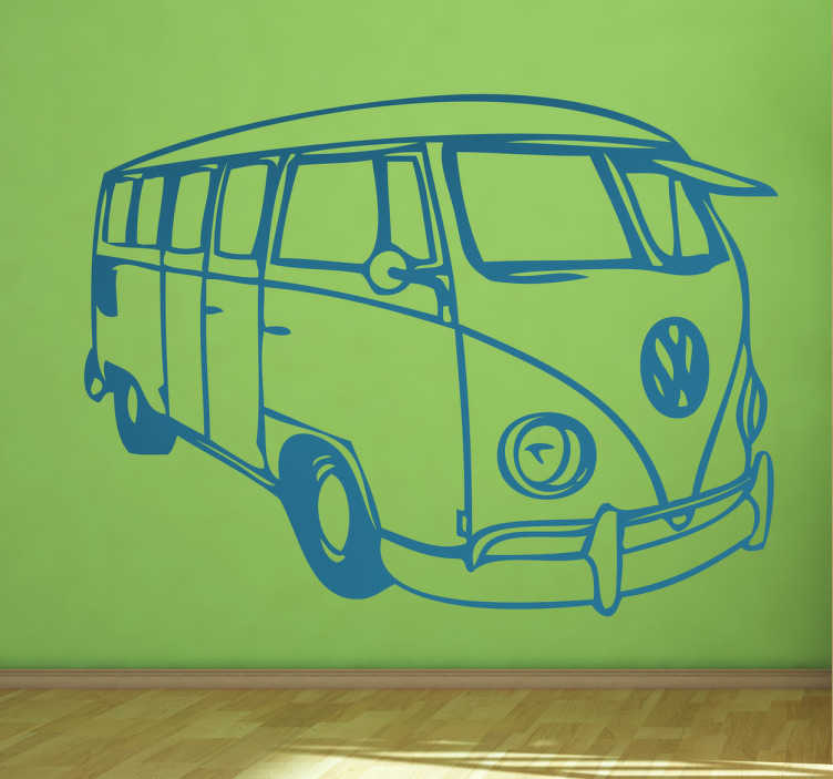 Retro Volkswagen bus Wall Sticker