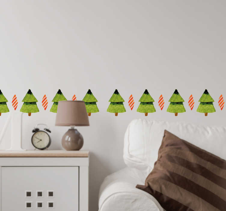 TenStickers. Christmas Tree Sticker. Christmas tree wall sticker. The holidays are coming up again, so get ready and decorate your home or business with these Christmas trees.
