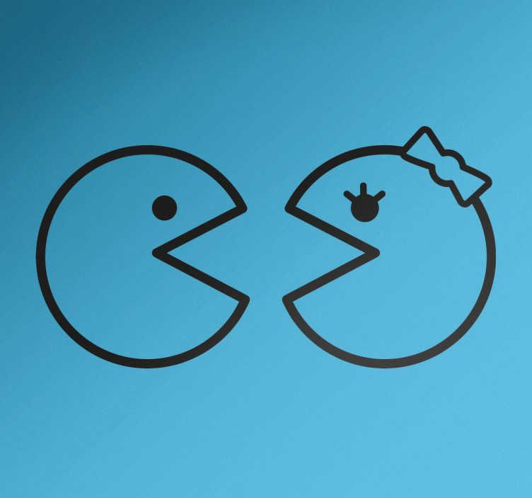 Mr and Mrs Pacman Sticker