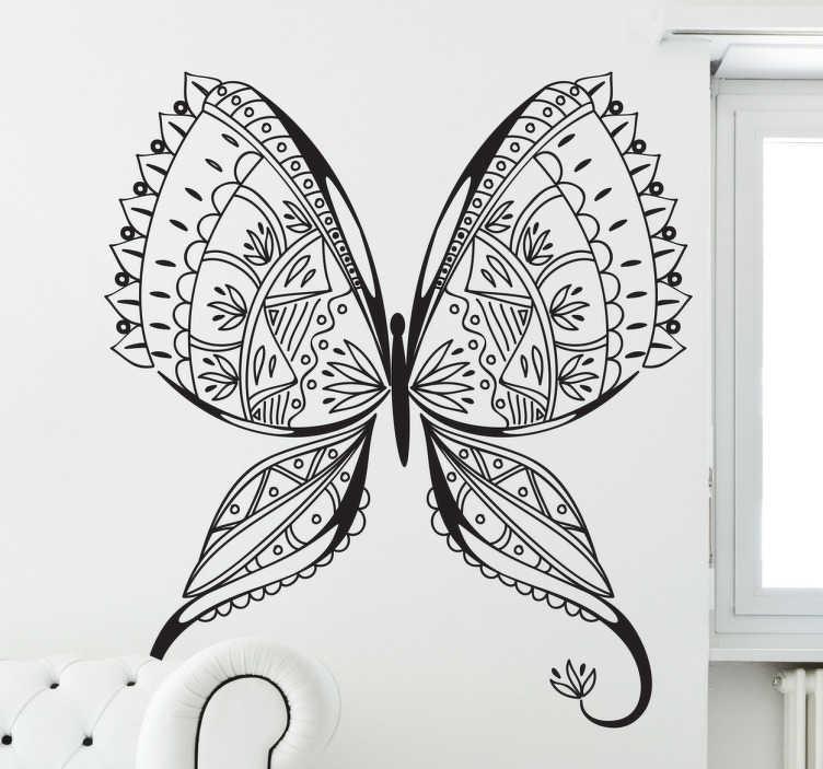 TenStickers. Naklejka dekoracyjna Motyl. Naklejka dekoracyjna przedstawiająca sylwetkę pięknego motyla.