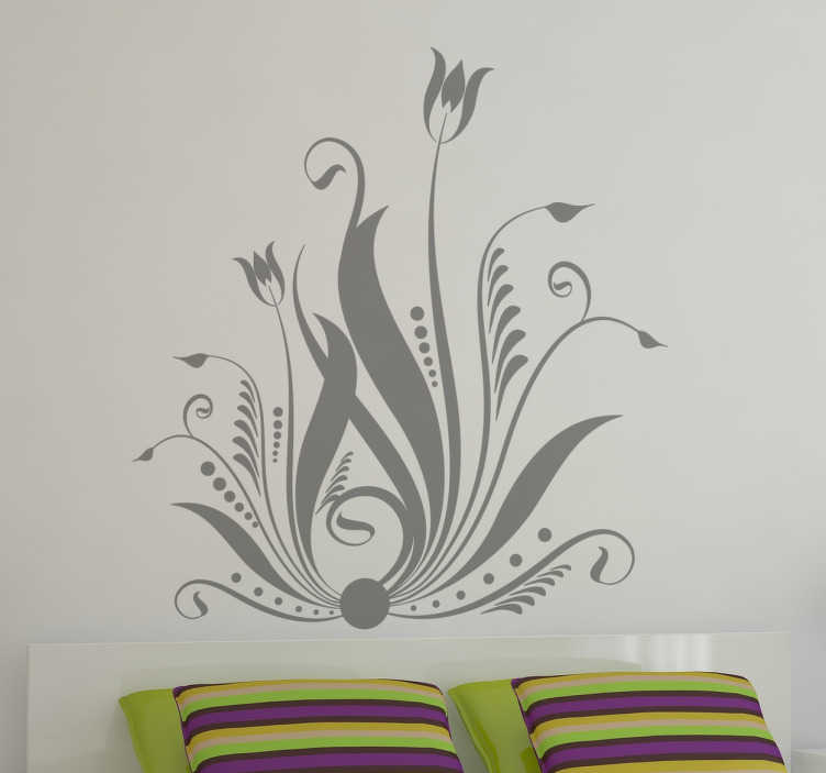 TenStickers. sticker fleur décorative. sticker fleur décorative applicable sur toutes surfaces et personnalisable.