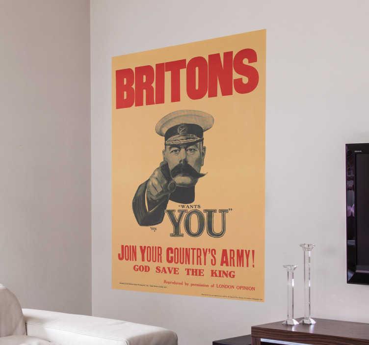 Vinilo cartel Britons wants you