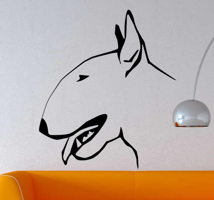 Vinil decorativo perfil bull terrier