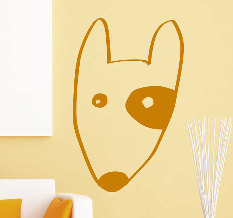 TenStickers. Bull Terrier Sticker. Bull Terrier Wall Sticker, a nice wall decoration for dog lovers. A beautiful decoration for the bedroom, living room or nursery.