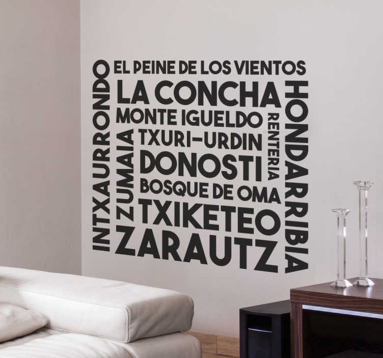 Vinilos Euskadi palabras Guipuzkoa