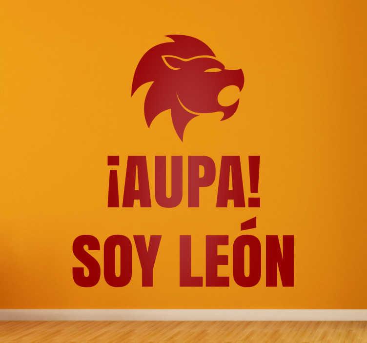 Vinilos de fútbol soy león