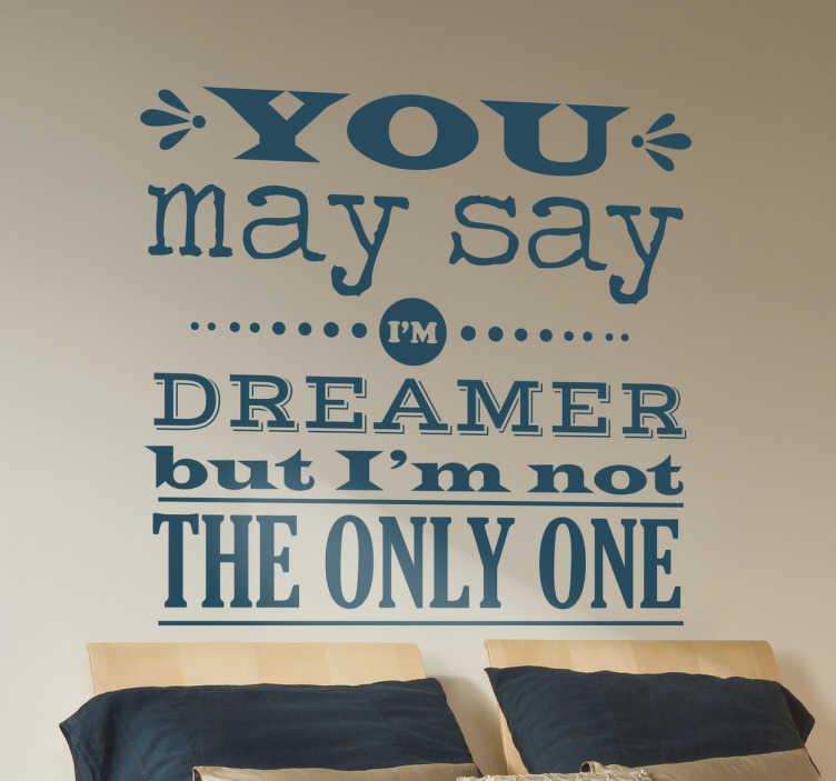 John Lennon Quote Wall Sticker Tenstickers