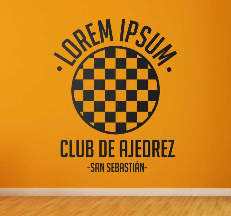 Vinilo personalizable club ajedrez