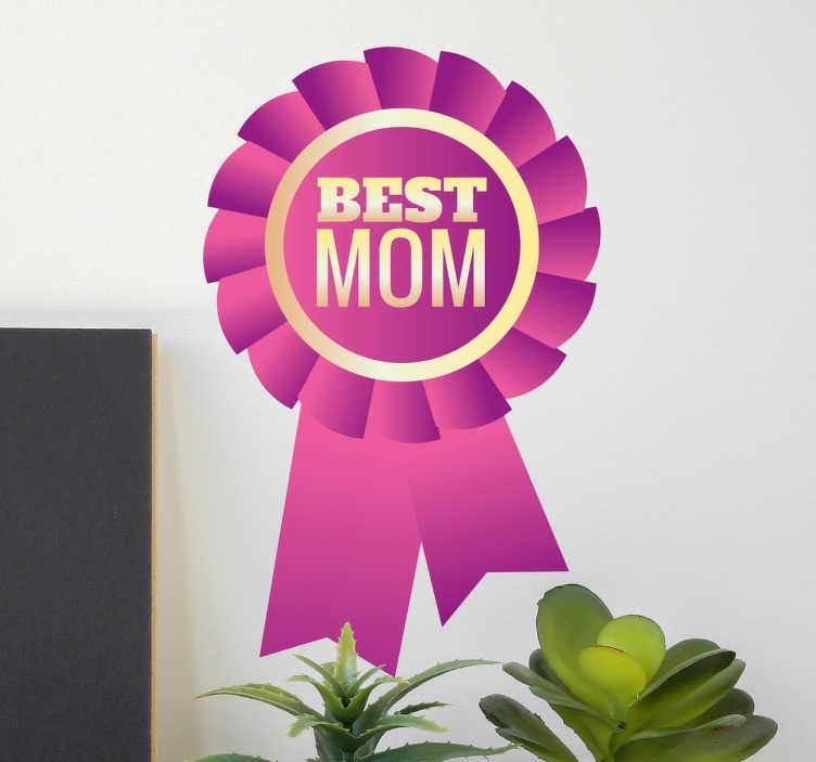 Best Mom medal naklejka ścienna