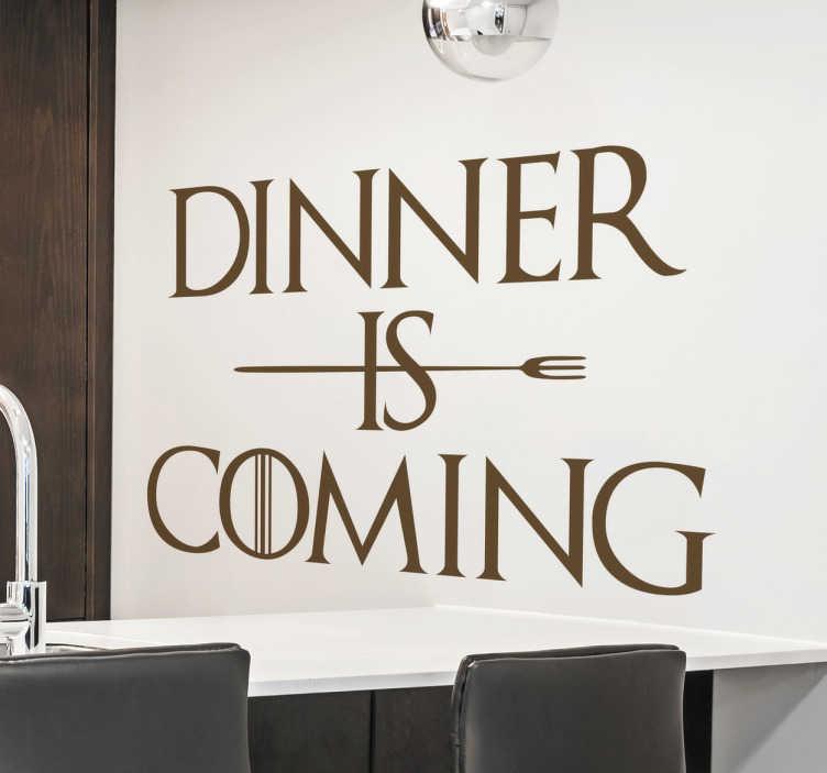 Vinilo dinner is coming
