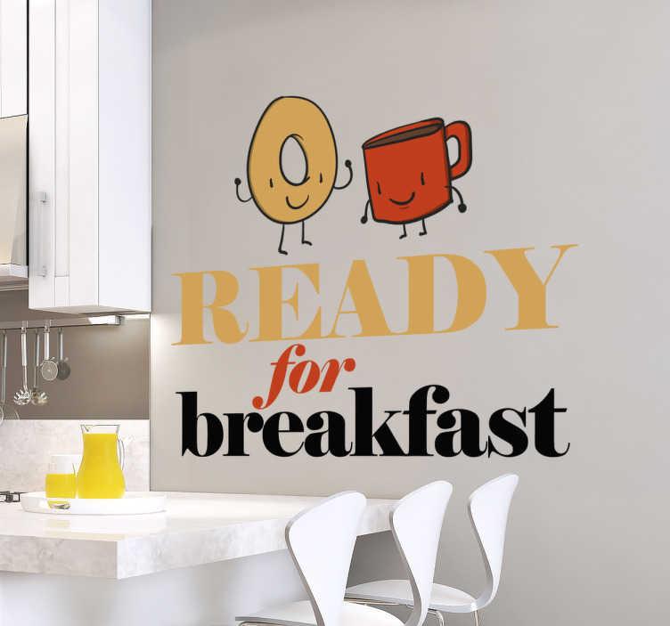TenVinilo. Vinilo ready for breakfast. ¿Preparado para desayunar? Afronta cada día con optimismo decorando tu cocina o comedor con un vinilo mural exclusivo.